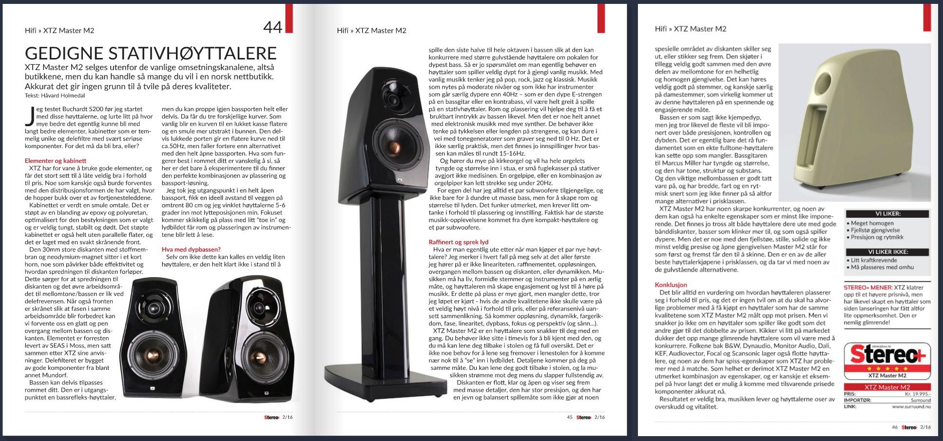 Master M2 Review - Surround/Bookshelf Speakers